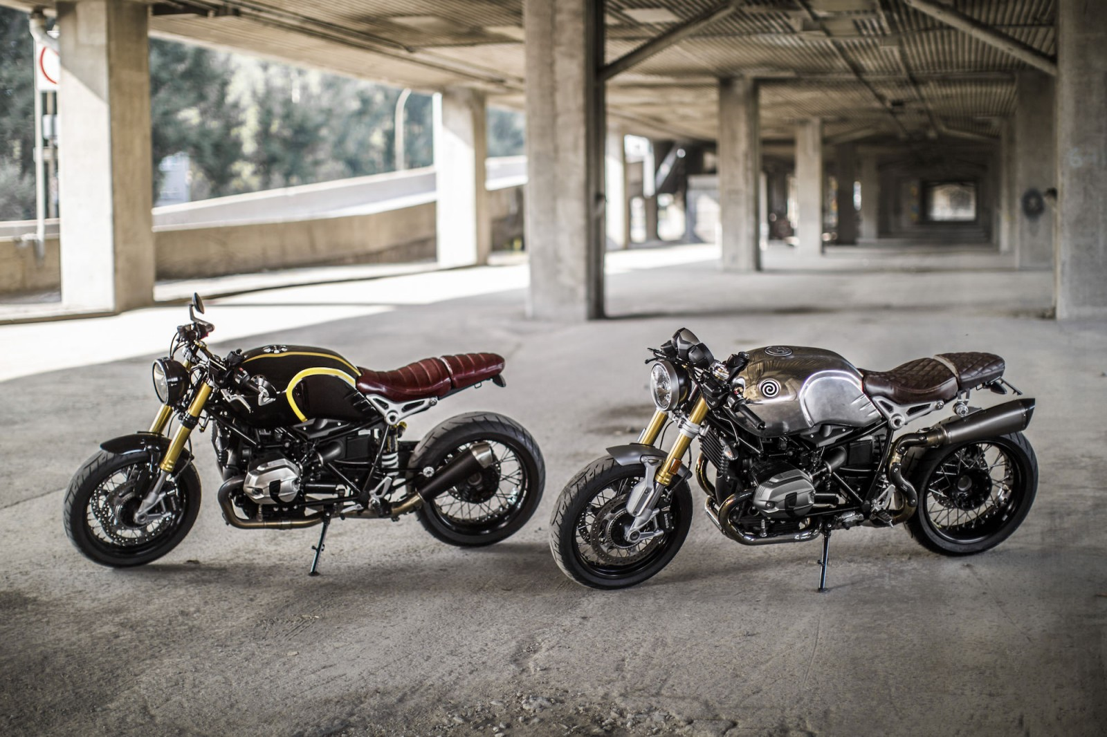 Two BMW R nineT customs from Stephane Tanguay and Patrick Boivin (Montreal)